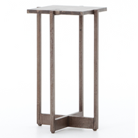 Roman Box Frame Industrial Iron Square Accent Table