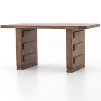 "Ella Applique-Style Reclaimed Wood Desk 60"""