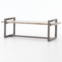 Warby Modern Industrial Wooden Bench 60""