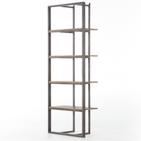 Grainger Modern Industrial Open Bookshelf