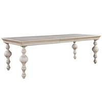 Belgian Cottage Baluster Extending Dining Table - Antiqued White