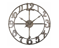 large metal wall clocks