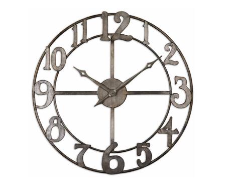 Delavan Large Metal Wall Clock Zin Home