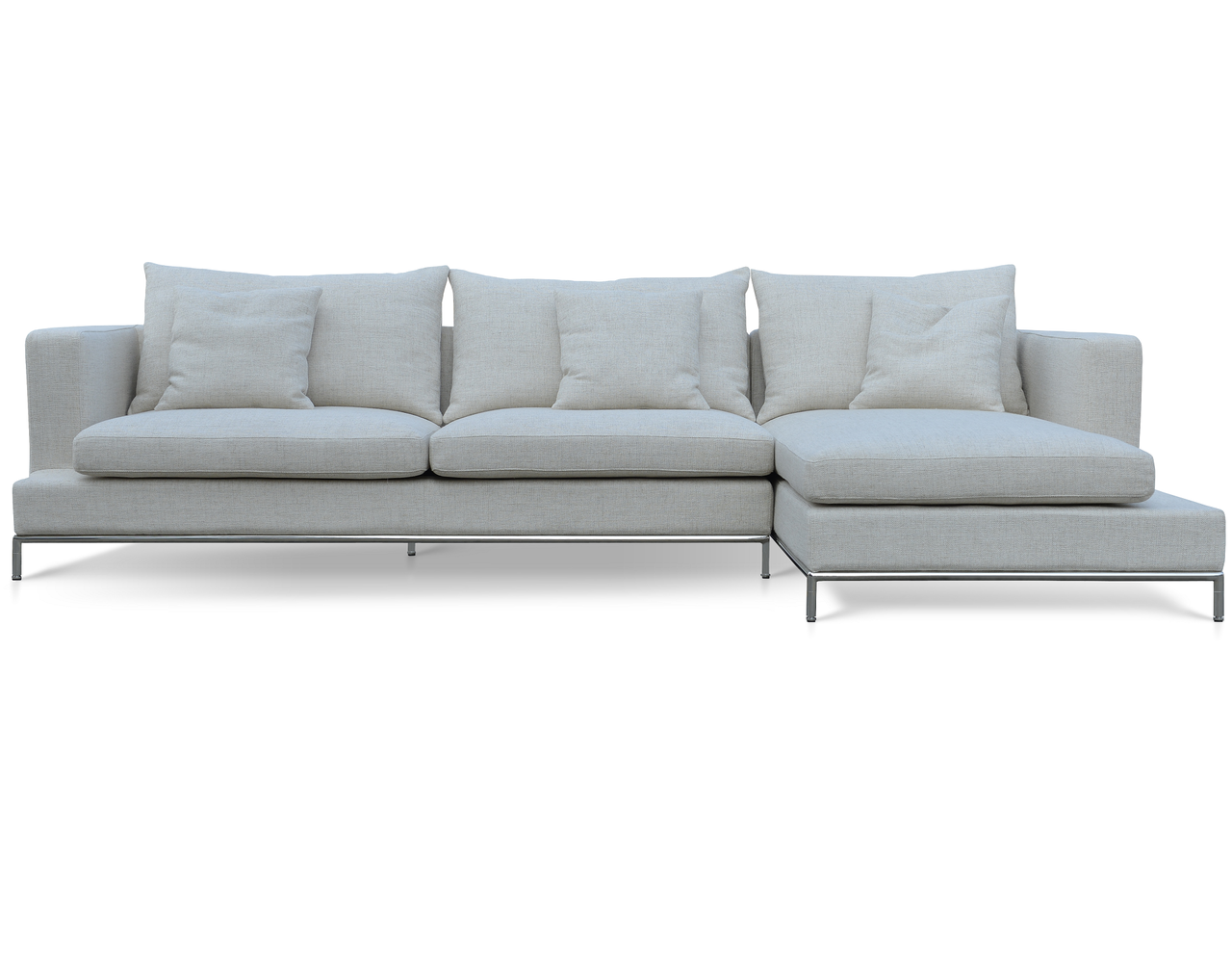 soho concept simena sectional sofa  zin home - soho concept simena sectional sofa cream tweed