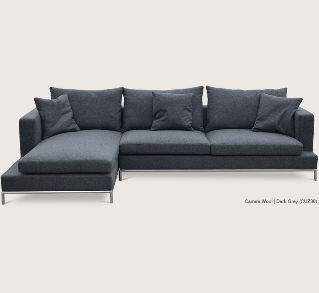 soho concept simena sectional sofa  zin home -  soho concept simena sectional sofa dark grey wool
