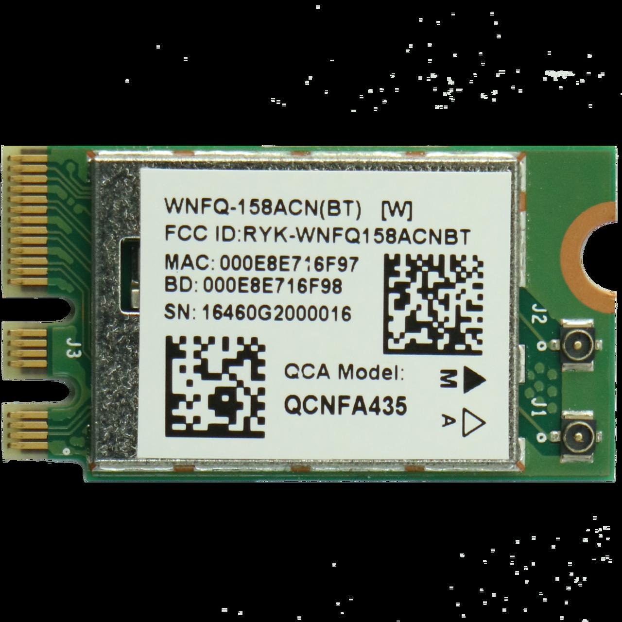 WNFQ-158ACN(BT) 802.11ac/b/g/n Wi-Fi M.2 module, Qualcomm Atheros