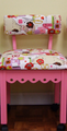 Arrow 4005 Pink Alexander Henry Fabric Covered Sewing Machine Chair