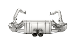 Akrapovic Titanium Slip-On Exhaust System with Intergrated Valves for Porsche Boxster/Cayman (981)