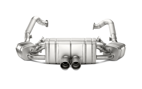 boxster 981 akrapovic titanium slip on exhaust system with