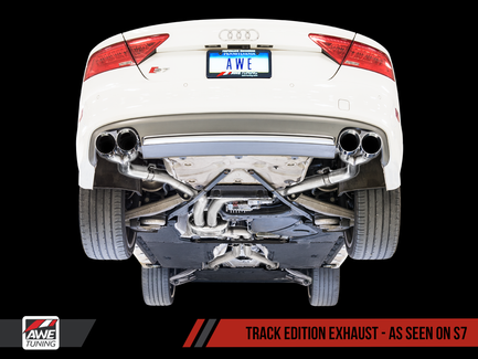 AWE Tuning Track Edition Exhaust for Audi S6 4.0T - Chrome Silver Tips