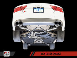 AWE Tuning Track Edition Exhaust for 2012+ Audi S7 4.0T - Chrome Silver Tips