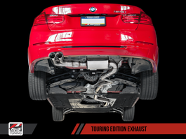 AWE Tuning Touring Edition Exhaust, Single Side -- Chrome Silver Tips (80mm) for BMW F3x N20/N26 328i/428i