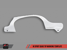 AWE Tuning M Sport Quad Tip Marking Template for BMW F3x 328i