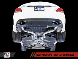 AWE Tuning Track Edition Exhaust System (no tips) for Mercedes-Benz W205 AMG C63/S