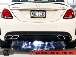 AWE Tuning Chrome Silver Machined Exhaust Tips for Mercedes-Benz AMG C63