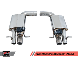 AWE Tuning Switchpath Exhaust (For Non-Dynamic Exhaust Cars - No Tips) for W205 Mercedes Benz C63/S Coupe AMG (3025-31040)