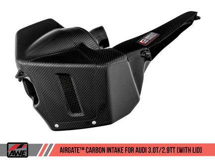 AWE AirGate™ Carbon Fiber Intake - With Lid for Audi B9 3.0T / 2.9TT, S4 / S5 / RS 4 / RS 5 (2660-15032)