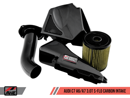 AWE S-FLO Carbon Fiber Intake for Audi C7 A6 / A7 3.0T (2660-15022)