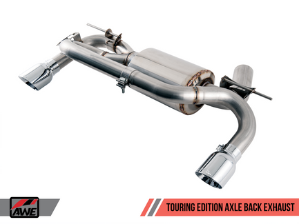 AWE Touring Edition Axle Back Exhaust for BMW F3X 340i / 440i with Chrome Silver Tips (90mm) (3010-32032)