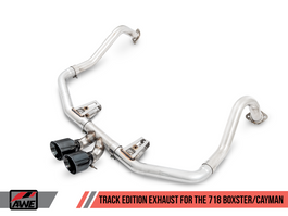 AWE Track Edition Exhaust for Porsche 718 Boxster / Cayman with Chrome Silver Tips (3010-32038)