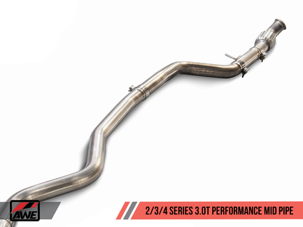 AWE Performance Mid Pipe for BMW F3X 340i / 440i with 3.0L Turbo