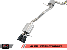 AWE Touring Edition Exhaust for MK6 Jetta 1.4T with Diamond Black Tips (3015-23056)