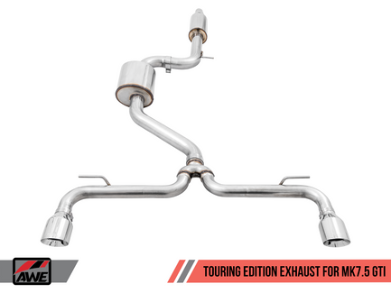 AWE Touring Edition Exhaust for VW MK7.5 GTI with Diamond Black Tips (3015-33096)