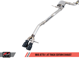 AWE Track Edition Exhaust for MK6 Jetta 1.4T with Chrome Silver Tips (3020-22032)