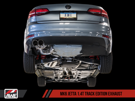 AWE Track Edition Exhaust for MK6 Jetta 1.4T with Diamond Black Tips (3020-23034)
