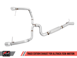 AWE Track Edition Exhaust for VW Golf Alltrack / Sportwagen 4Motion with Chrome Silver Tips