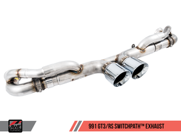 AWE SwitchPath Exhaust for Porsche 991.1 / 991.2 GT3 / RS with Diamond Black Tips (3025-33016)