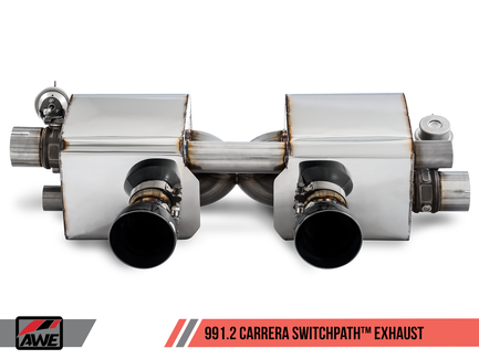 AWE SwitchPath Exhaust for 991.2 Carrera / S / GTS with PSE - Diamond Black Tips (3025-33018)