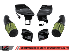 AWE S-FLO Carbon Intake with Covers and Grille Inlets for BMW F9X M5 / M8 (2660-15054)