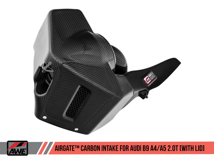 AWE AirGate Carbon Fiber Intake for Audi B9 A4 / A5 2.0T - With Lid (2660-15028)