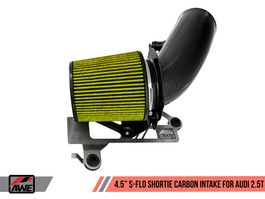 "AWE 4.5"" S-FLO Shortie Carbon Intake for Audi RS 3 (8V) / TT RS (Mk3) 2.5L Turbo (2660-15046)"