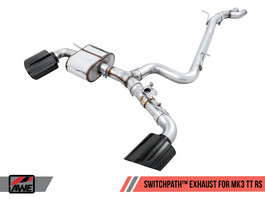 AWE SwitchPath Exhaust for Audi MK3 TT RS with Diamond Black RS-style Tips (3025-33032)