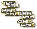 1980-83 YZ US Capacity Decals