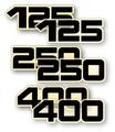 1977-78 YZ 125/250/400CC Decals