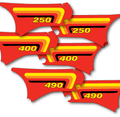 "Side Panel Decal Set 82 Maico ""490"" original style"