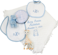 Light Blue Teddy Monogram Design