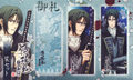 Hakuouki Clear Bookmarks Set - Hijikata Toshizou Hekketsuroku Ver.