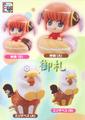 Gintama Petit Chara Land Ice Cream & Doughnut Figures - Kagura Ver. 1