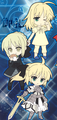 Fate/Saber Pikuiru! Saber Rubber Strap Collection - Gothic Lolita version