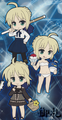 Fate/Saber Pikuiru! Saber Rubber Strap Collection - Brown Dress version