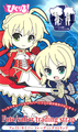 Fate/Saber Pikuiru! Saber Rubber Strap Collection - Red Dress version