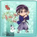 Gintama Microfiber Mini-Towel Winter Version - Shimura Shinpachi