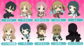 Sword Art Online Petanko Dust Plug Rubber Straps - Asuna Smiling ver.
