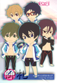 Free! Pikuriru Rubber Straps - Ryuugazaki Rei