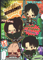 Attack on Titan Clearfiles - Levi, Hanji, & Eren