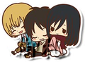Attack on Titan Rubber Straps - Eren, Armin, Mikasa